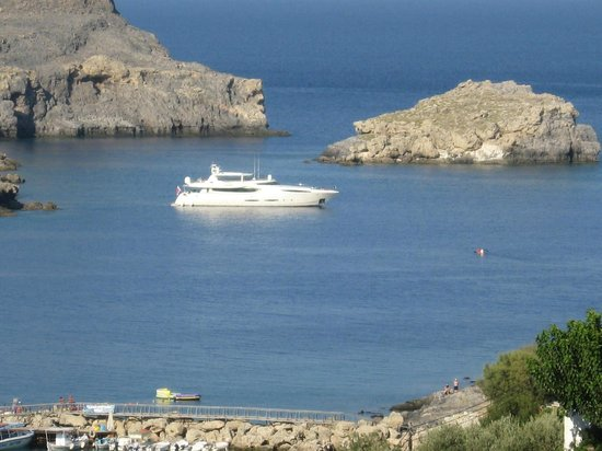 Mythos All Day Restaurant: Keep an eye on your yacht whilst eating!