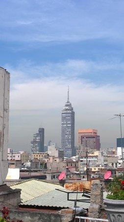 Hotel Catedral: vanaf het balkon achter