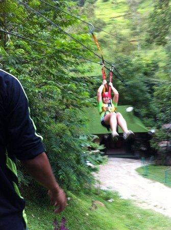 Tanah Aina Farrah Soraya Resort : Flying fox fun! Give it a go!