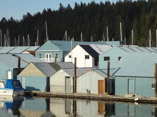 The Pine & Picket B&B : Boathouses at the harbour