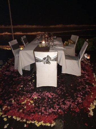 The Samaya Bali Seminyak : Special table at Breeze