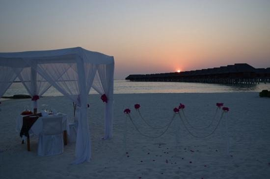 LUX* South Ari Atoll: Our Romantic Beach Dinner (West point)