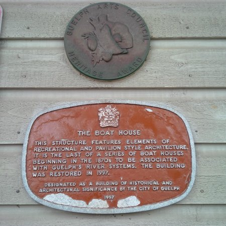 The Boathouse: Historic plaque