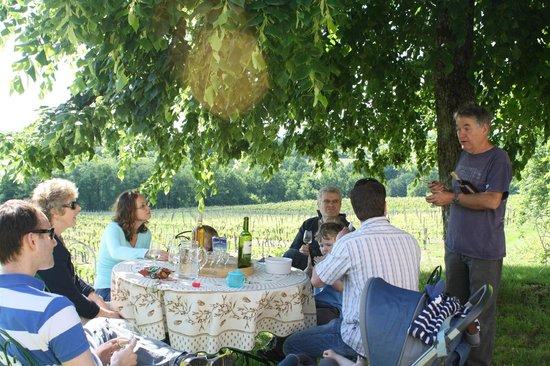 Chateau Lestevenie : Wine tasting