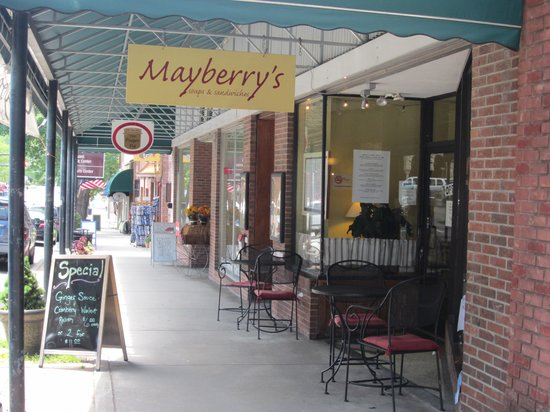 Mayberry's restaurant in downtown Brevard