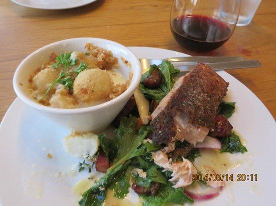 The Artist's Table : Salmon on turnip greens