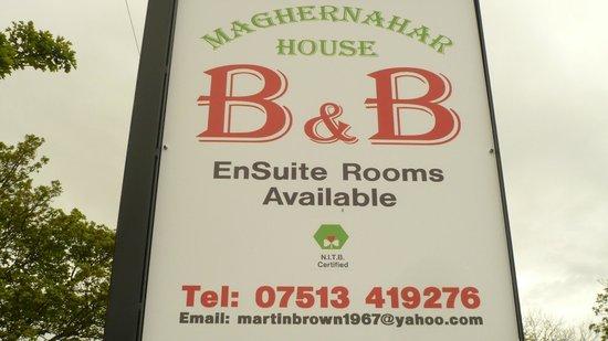 Maghernahar House B&B: Maghernahar House