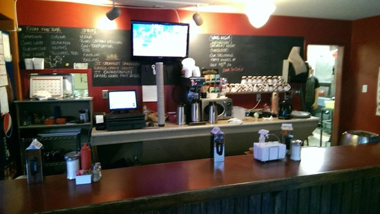 The Village Cafe: Quick meal seating area