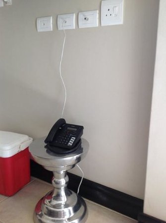 Legend Golf and Safari Resort : telephone table not 5 star at all