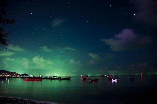 Big Blue Diving: Koh Tao @ Night view from Big Blue Bar