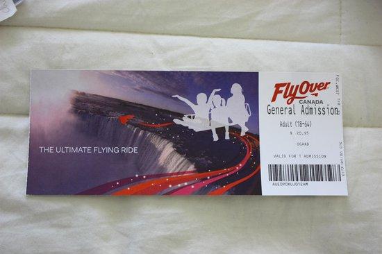 FlyOver Canada : Ingresso