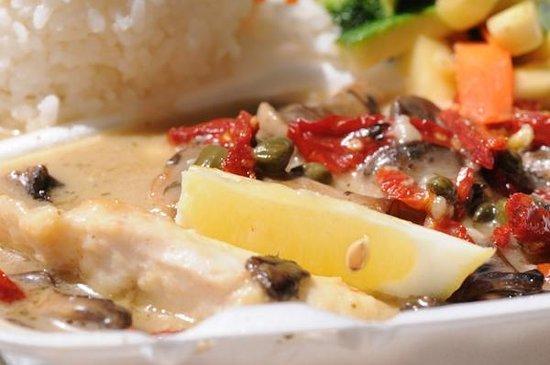 Honokowai Okazuya & Deli : Ono Lemon Caper Sautee with Sundried Tomatoesshi