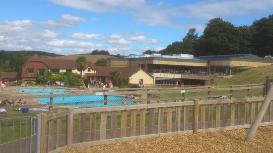 Cofton Holidays: the view of the pool function rooms