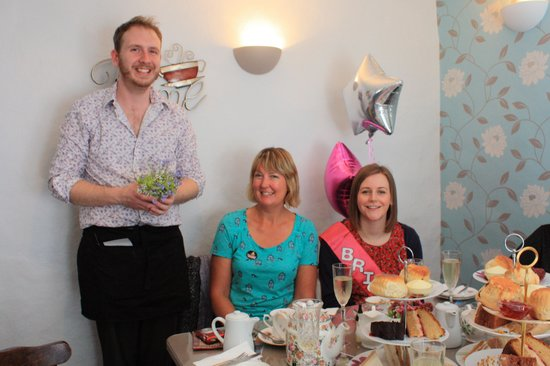Lion Rock Tea Rooms: James at Derricks being a great host at Francesca's family hen!