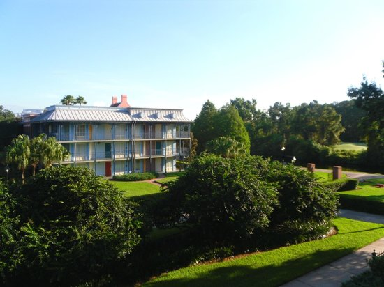 Disney's Port Orleans Resort - French Quarter: View from outside room