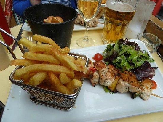 Ginette de la Cote d'Azur: Chicken Kebab par excellence!