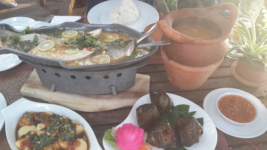 Tree Monkey: A bowl of soup + steamed fish