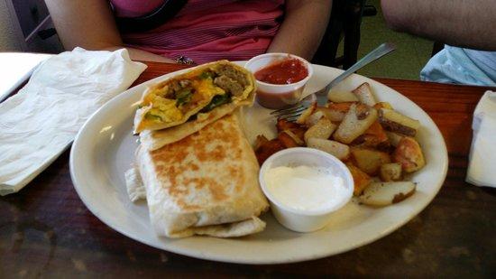 Cortez Cafe: Breakfast burrito