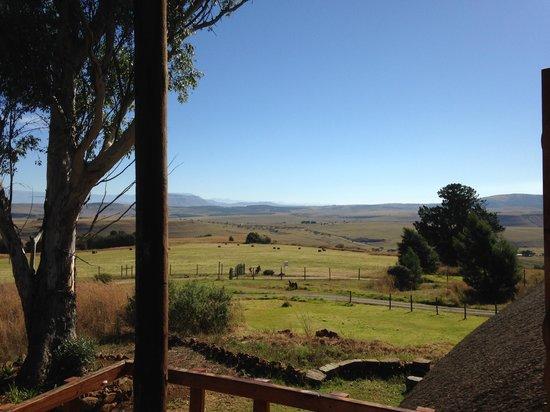 Antbear Lodge: uitzicht op Drakensbergen