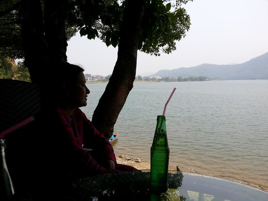 Burger Bar: a view of the lake from the table