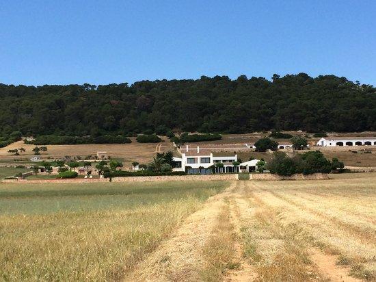 Finca Atalis: La finca desde el camino hacia la playa