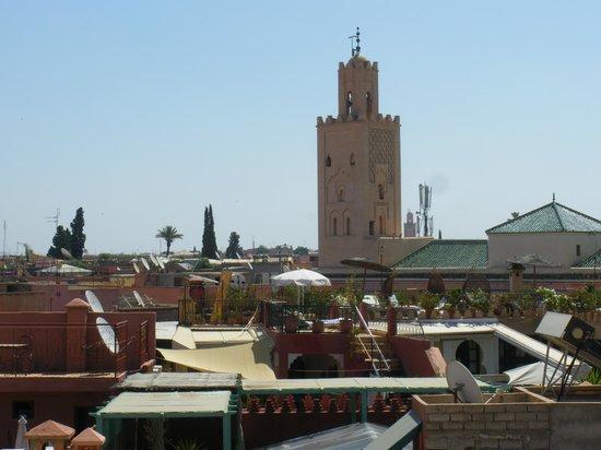 Riad Altair: vue de la terrasse