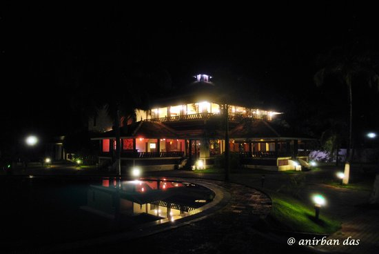 The World Backwaters: Dining Area at night