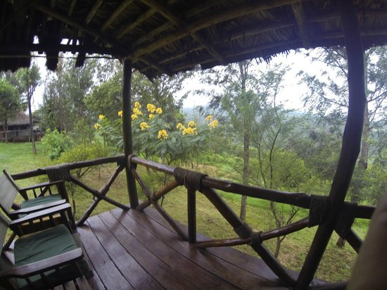 Ngorongoro Forest Tented Lodge: terrasse de notre chambre