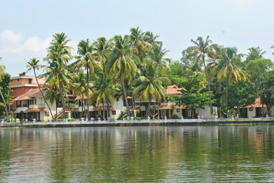 The World Backwaters: View of the Resort from the Lake