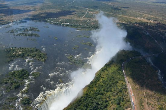 Bonisair Helicopters: Victoria Falls from the air
