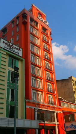 East Hotel: The colour of the hotel stands out