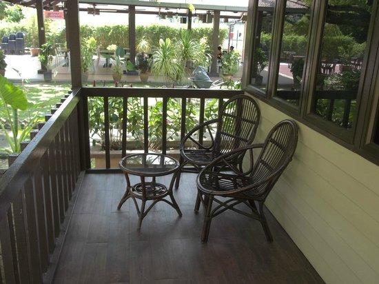 Pangkor Sandy Beach Resort : verandah of the chalet