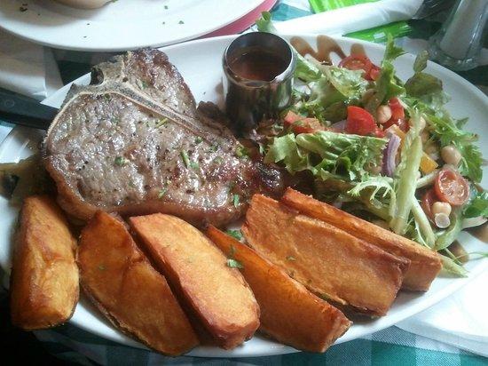 The Hairy Lemon Cafe Bar: Rib eye steak