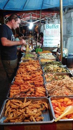 Luang Prabang Night Market: the local buffet at the night market