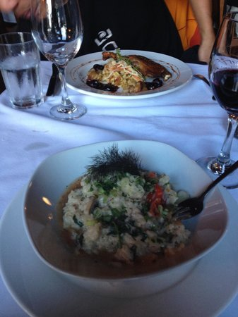 Anglers Dining: Risotto and duck confit appies