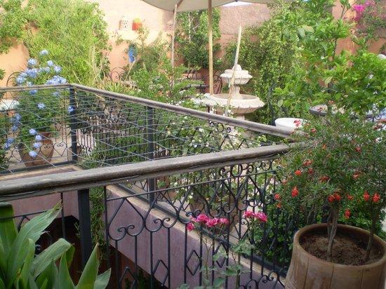 Riad Zayane Atlas: Une terrasse toute en fleurs et en parfums...
