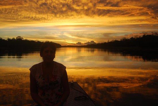 Muyuna Amazon Lodge : Nice Sunset View