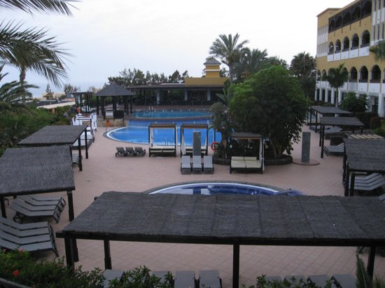 Occidental Jandia Playa: View over Premium Club pools, restaurant and rooms