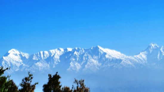 View from Nanda Devi and Trishul from Zero Point in Binsar