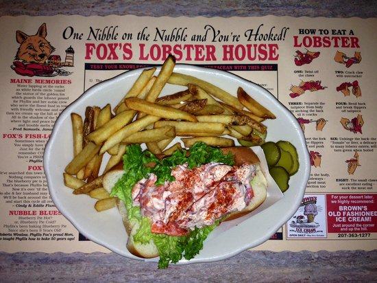 Fox's Lobster House: Lobster Roll