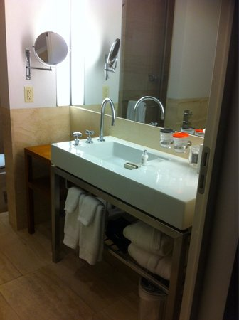 The Bryant Park Hotel: spacious bathroom with shower and bath tub