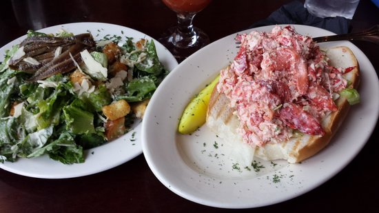 Seaport Grille: Lobster Roll and Caesar Salad