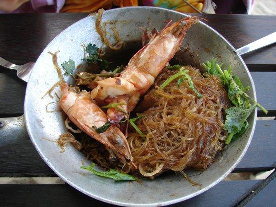 Koh Phangan Dreamland Resort : Стеклянная лапша с креветками