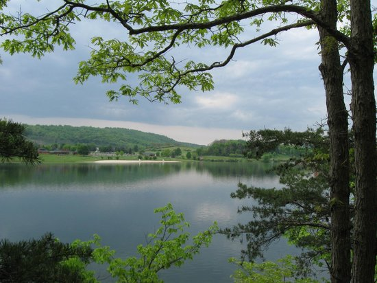 Rocky Gap State Park : View from Lakeside Trail