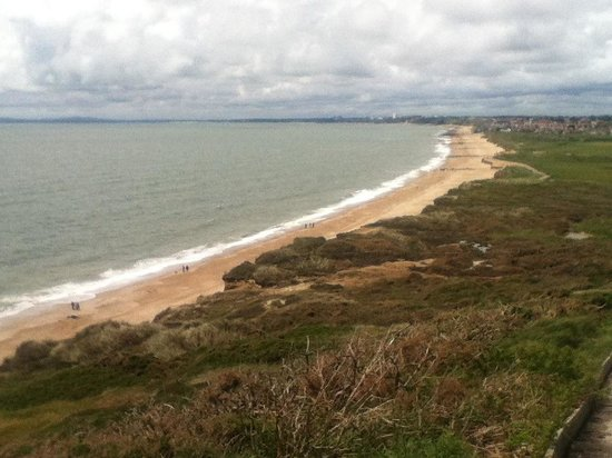 Hengistbury Head: View from the top towards Bournemouth