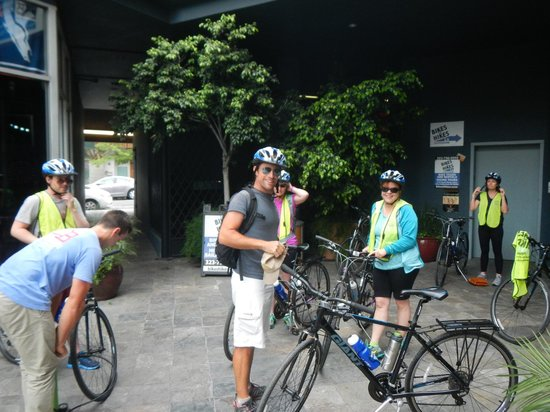 Bikes And Hikes LA: Getting ready to start the tour in West Hollywood