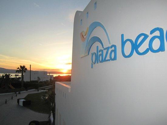 Plaza Beach Hotel : vue de la chambre