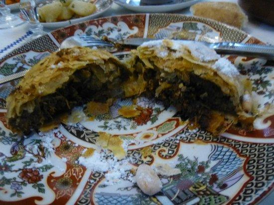Restaurant dar hatim: Inside Chicken pie - mixture of spice, vegies and other yummy stuff