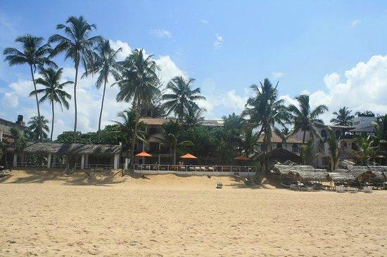 Sunbeach Hotel: Sun Beach with orange umbrellas, right on the beach