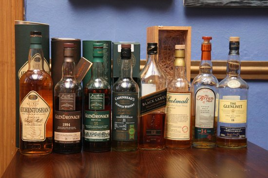 Alamo Guest House: A selection of Whiskeys